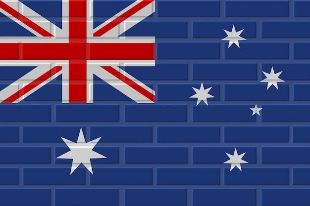 Australia brick flag illustration