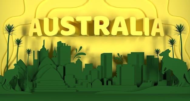 Australia cityscape 3d rendering