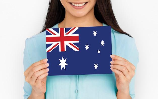 オーストラリアの国のユニオンジャックフラグ