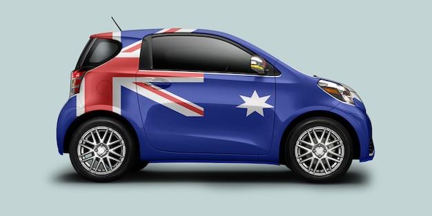 Australia flag car