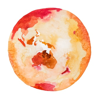 Australia on the globe. earth planet. watercolor.