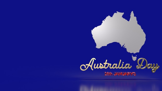 The australia map and word for holiday content 3d rendering.