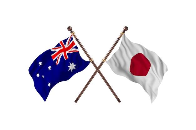 オーストラリア対日本の国旗の背景