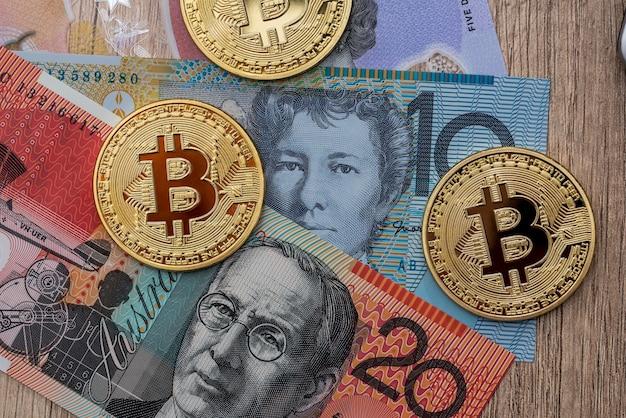 Australian dollars and bitcoins
