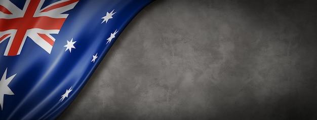 Australian flag on concrete wall