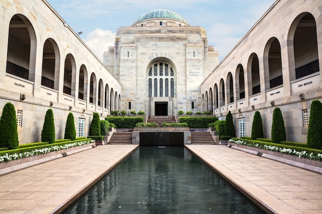 The australian war memorial in canberra. it is australia's national memorial to australians who have died or participated in the wars.
