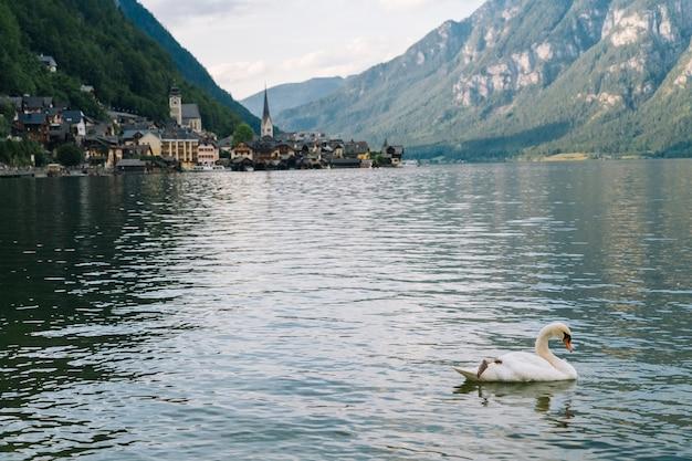 オーストリア、ハルシュタットのユネスコの歴史的な村。