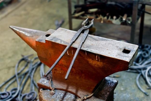 Authentic anvil in the blacksmith