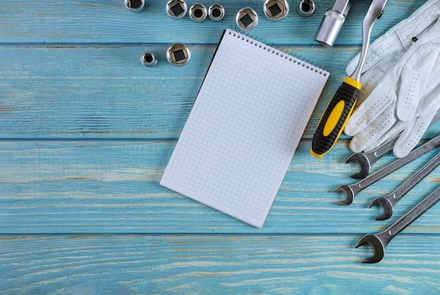 Auto mechanic tool kit has prepared tools hexagon set wrenches for repair