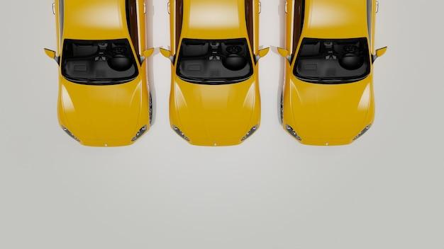 자동 노란색