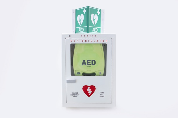 Automated external defibrillator in the hospital