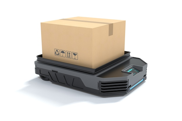 Automated guided vehicle loading boxes