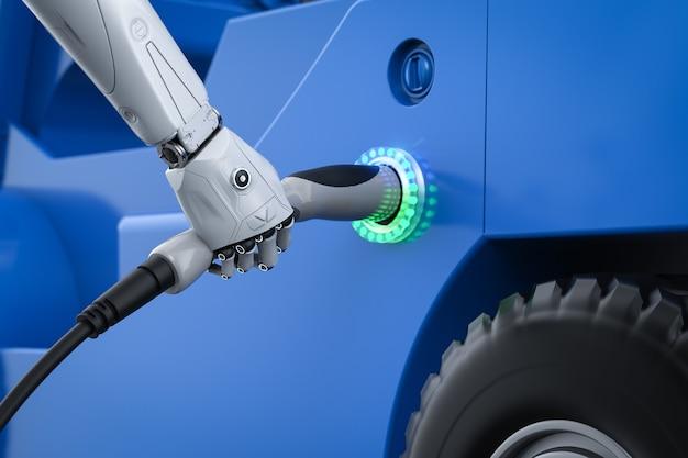 Автоматическая подзарядка с зарядным устройством для электромобилей с роботизированным удержанием