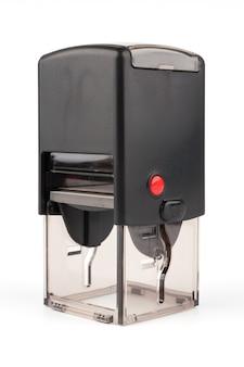 Автоматическая печать с красной кнопкой на белом фоне
