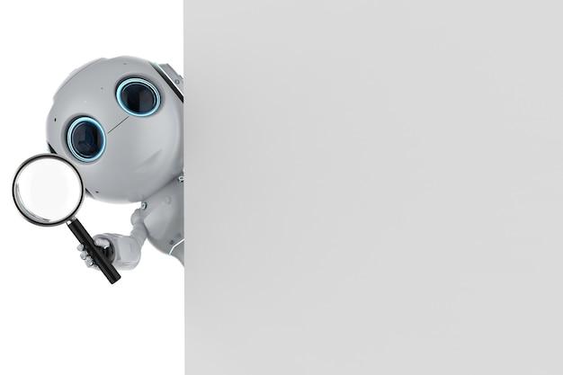 Автоматический поиск с помощью робота-рендеринга с увеличительным стеклом