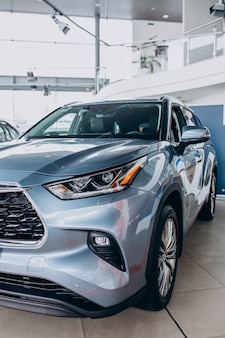 自動車の詳細は新車のクローズアップ