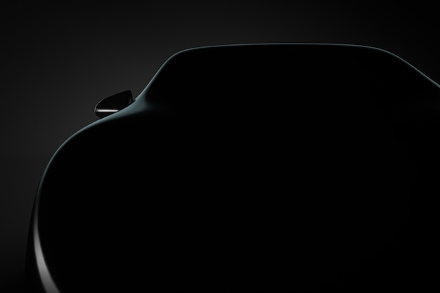 Automotive background. silhouette of the front of the car