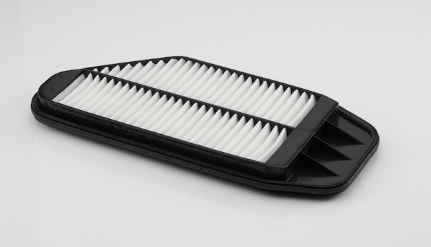 Automotive filter square shape on a white background