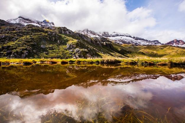 Autumn in aguas tuertas, valle de echo, spain