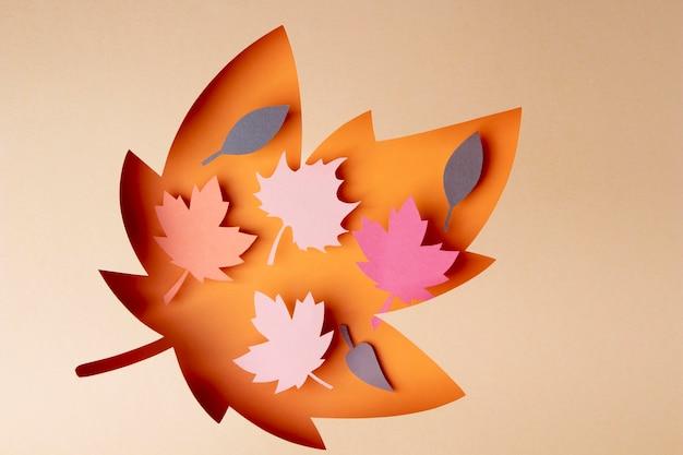 종이 스타일의 가을 배열