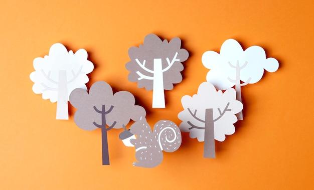 紙風の秋のアレンジ