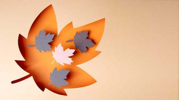 Autumn arrangement in paper style