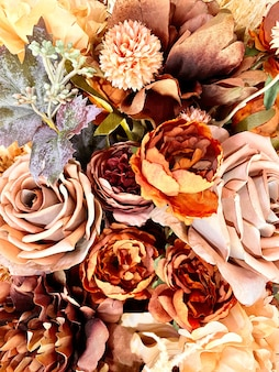 Autumn bouquet background copy space wedding concept flowers arrangement floristry