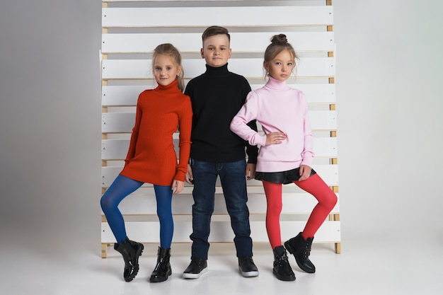 Autumn collection of clothes for children and teenagers