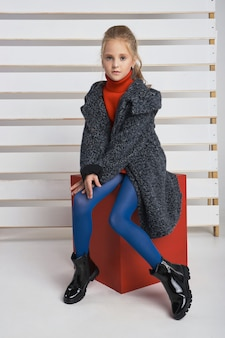 Autumn collection of clothes for children and teenagers.