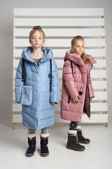 Autumn collection of clothes for children