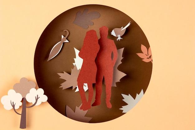 紙風の秋の構図