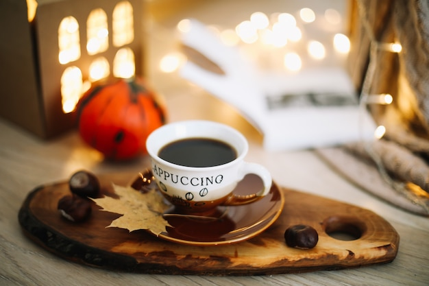 Осенняя композиция день благодарения концепция осенняя осень фон плоский вид сверху Premium Фотографии