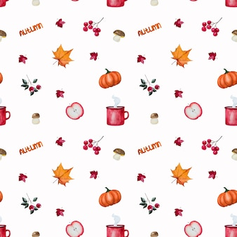 Autumn elements pattern