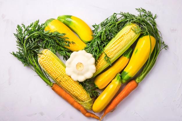 Autumn farm harvest of bright beautiful vegetables