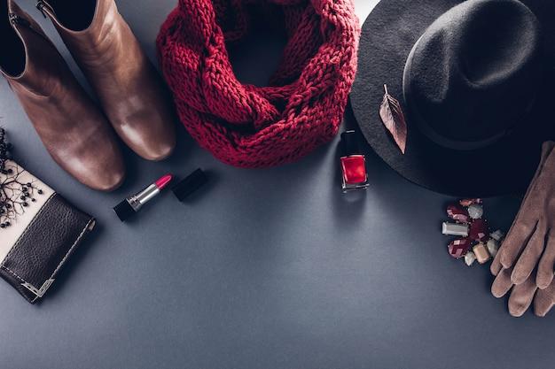 Осенний женский наряд одежда, обувь и аксессуары