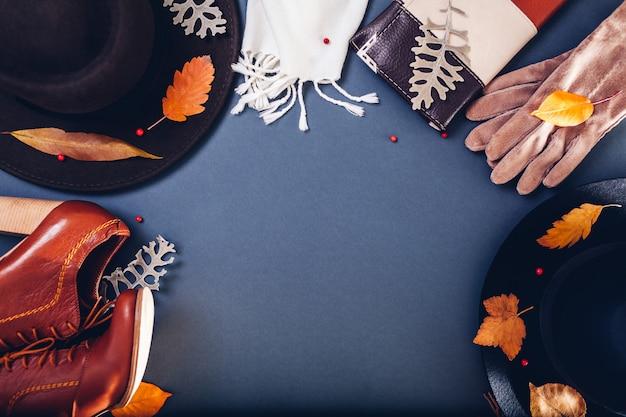 Осенний женский наряд комплект одежды, обуви и аксессуаров