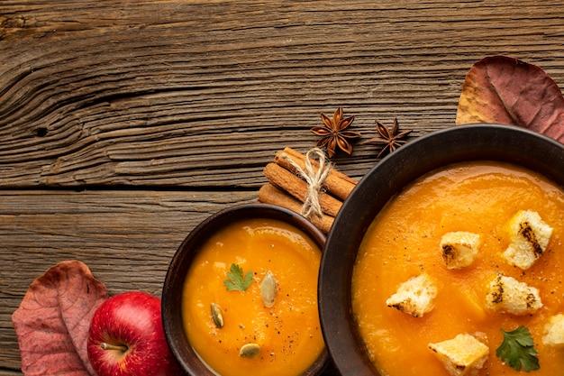 秋のフードスープクリーム