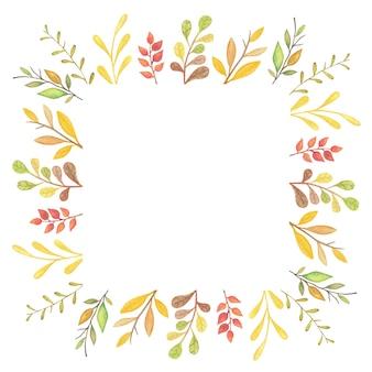 Осенняя рамка с осенним листом