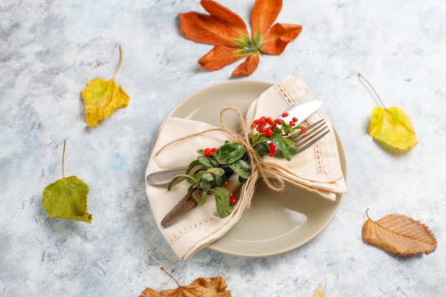 Autumn fruit. autumn thanksgiving seasonal fruits, top view