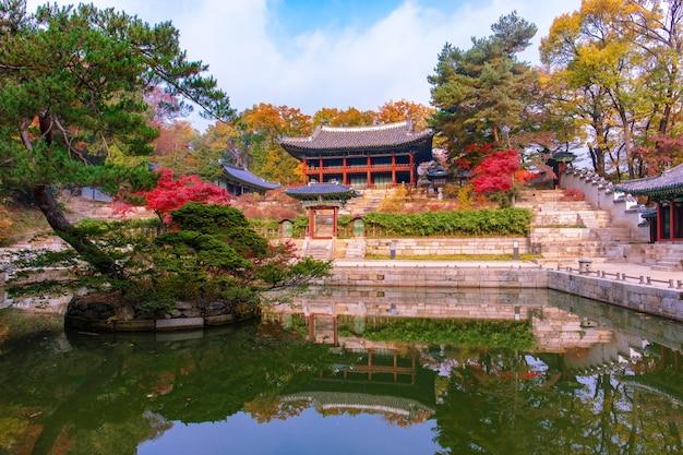 Autumn in garden of changdeokgung palace south korea