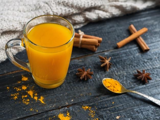 Autumn golden turmeric tea