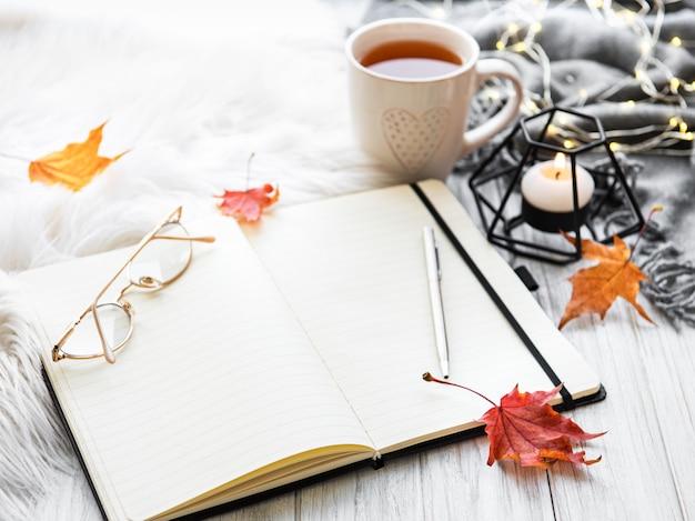 Осенняя домашняя уютная композиция