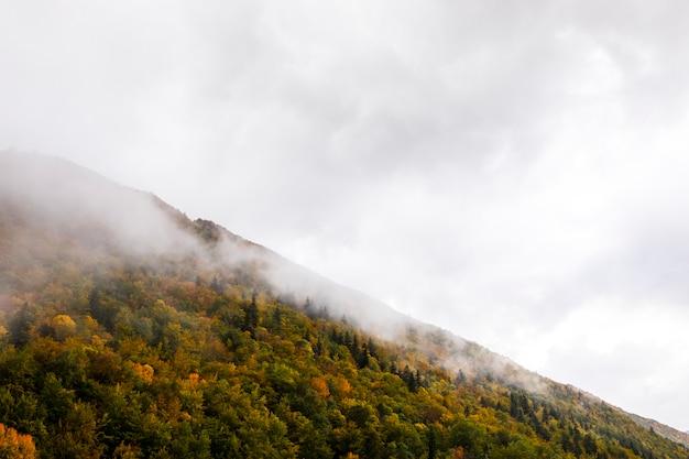スペイン、オルデサ国立公園とモンテペルディド国立公園の秋