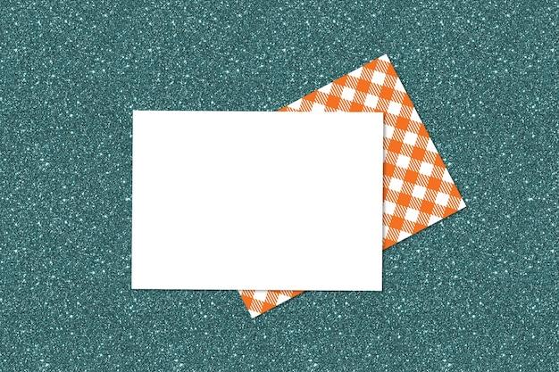 Autumn invitation card on green background