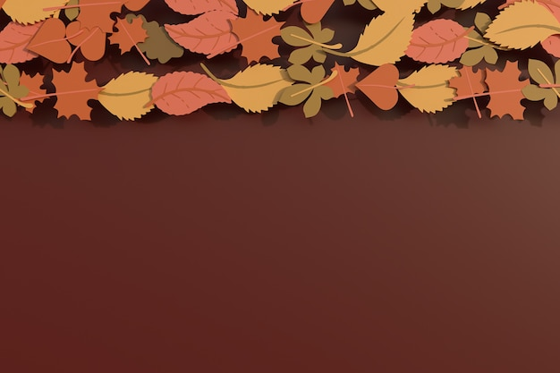 Осенние листья фон рамки. 3d визуализация иллюстрации