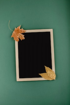 Autumn minimal flat lat, mockup, composition