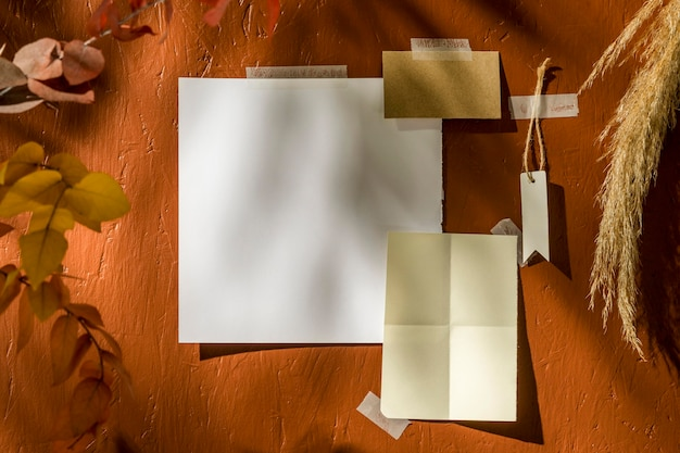 Autumn moodboard concept with copy space