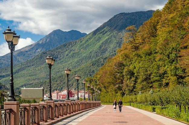 Autumn in the mountains of krasnaya polyana