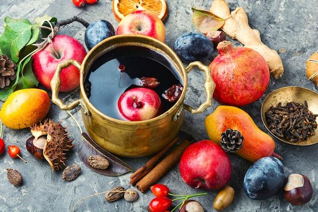 Autumn mulled wine
