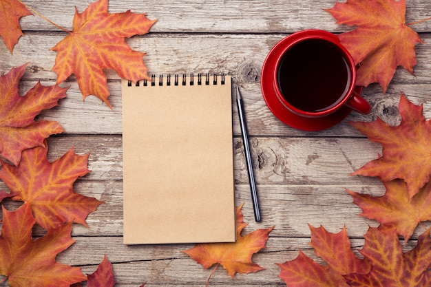 Autumn planning background